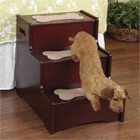 Pet Studio A Step Above Pet Stairs - Mahogany