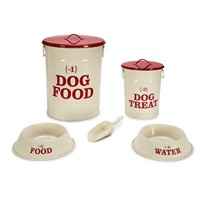 Pet Studio No.1 Dog Dining Collection - Cream