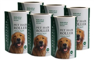 "Evercare Pet Hair Lint Roller Refills 6-PACK (30.1 ft x 4"" ea)"