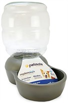 Petmate Replendish Waterer with Microban 2.5 Gallon - Brushed Nickel
