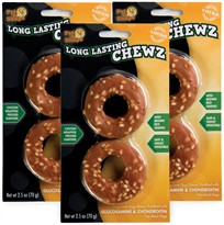 "3 PACK Pet 'N Shape Long Lasting Chewz 2.5"" ring (6 Ring)"