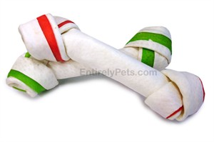 Holiday Porkhide Bones ( 6 - 6.5 in Bone ) - 2 PACK