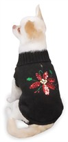 Zack & Zoey Poinsettia Sweaters Black - M (16&quot;)