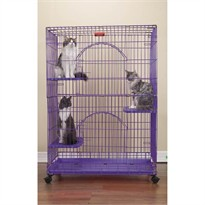 ProSelect Foldable Cat Cage 35.5Lx24Wx48 - Black