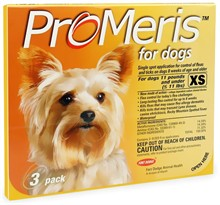 3 Pack ProMeris for Dogs under 11 lbs