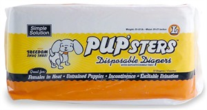 PUP'sters Disposable Diapers L (12 Diapers)