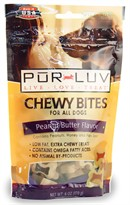 Pur Luv Chewy Bites Peanut Butter Flavor for all Dogs (6 oz)