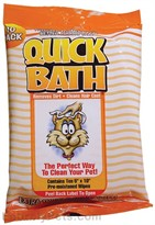 Quick Bath Wipes for Cats - Small (10 Count)