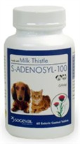 S Adenosyl 100 (SAMe) for Small Dogs and Cats  - 100 mg (60 tabs)