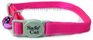 Safety First Break-Away Cat Collars - NEON PINK