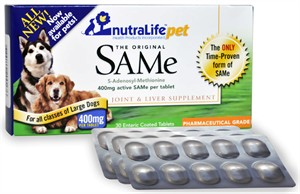 NutraLife Pet SAMe 400mg (30 tablets)