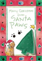 Merry Christmas from Santa Paws Kitty Card