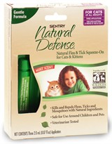 3 Month Sentry Natural Defense Flea & Tick Squeeze-On PURPLE for Cat & Kitten
