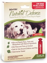 3 Month Sentry Natural Defense Flea & Tick Squeeze-On RED for Dog over 40 lbs