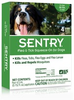 4 Month SentryPro Squeeze-On Flea & Tick GREEN for Dogs over 66 lbs