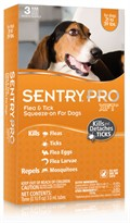 3 Month SentryPro XFT21 Flea & Tick Squeeze-On ORANGE for Dogs 21-39 lbs