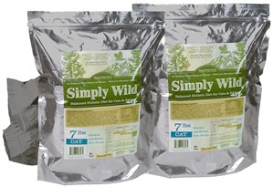 2-Pack Simply Wild Chicken & Brown Rice for Cats & Kittens (14 lbs)