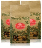 3-PACK Simply Wild Lamb & Trout Dog Treats (3.3 lbs)