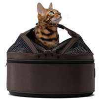 Meowme SleepyPod Mobile Pet Bed - Dark Chocolate (Medium)