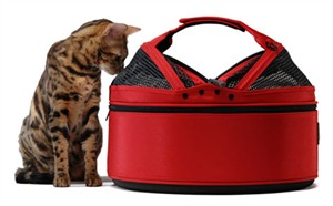 Meowme SleepyPod Mobile Pet Bed - Strawberry Red (Medium)