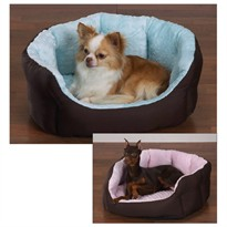 Slumber Pet Dimple Plush Nesting Bed Blue (26 In)