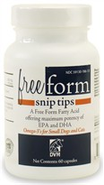 Free Form Snip Tips Omega-3 for Small Dogs and Cats (60 capsules)