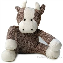 Multipet Sock Pal  Cow 14""