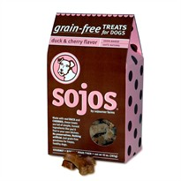 Sojos Grain-Free Dog Treats: Duck & Cherry Flavor (10 oz)