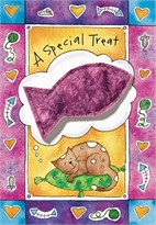 """A Special Treat"" Catnip Toy Greeting Card"