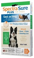 3 MONTH Spectra Sure Plus for Dogs 23-44 lbs