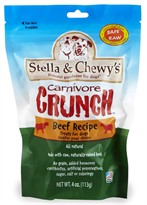 Stella & Chewy's Carnivore Crunch Beef Freeze-Dried Dog Treats (4 oz)