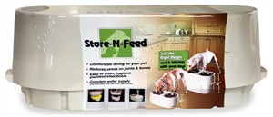 Store-N-Feed Elevated Double-Diner Pet Feeder
