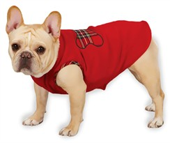 "Zack & Zoey Holiday Tartan Fleece Pullovers Red - S/M (14"")"