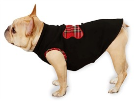 "Zack & Zoey Holiday Tartan Fleece Pullovers Black - XXS (8"")"