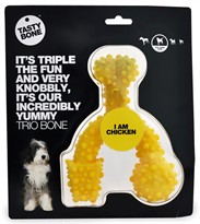 "Large Tasty Bone Trio Bone for Dogs - Chicken (7 x 5"")"