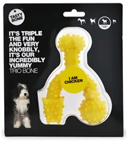 "Small Tasty Bone Trio Bone for Dogs - Chicken (5 x 4"")"