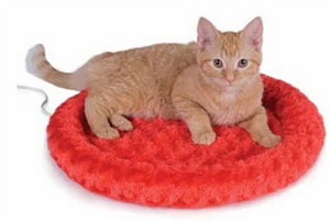 "K&H Thermo-Kitty Fashion Splash - Red - (17"" diameter)"