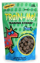 Crazy Dog Train-Me! Training Treats Pork Liver (3.52 oz)