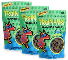 3 PACK Crazy Dog Train-Me! Treats Pork Liver (10.56 oz)