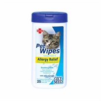 Tropiclean Oxy Med Pet Wipes Allergy Relief (25 ct)