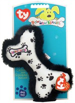 Ty Bow Wow Beanies Black Paw Print Bone