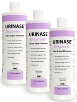 3-Pack URINASE <font color=&quot;#990099&quot;><i> Enzymatic</i></font>  Odor & Spot Eliminator (96 fl oz)