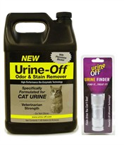 Urine off Odor & Stain Remover FOR CATS (GALLON) + UV Light