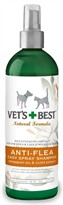 Vet's Best Natural Anti-Flea Easy Spray Shampoo (16 oz)