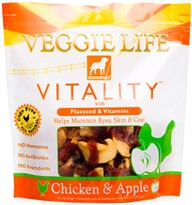 Dogswell Veggie Life Vitality Chicken & Apple Treats (15 oz)