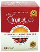 Fruitables Dog Treats Pumpkin & Cranberry 6 count (8.4 oz)