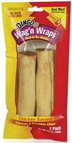 Dingo Wag'N Wraps Chicken Basted & Rawhide Chew (2 pack)