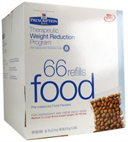 Hill's Prescription Diet Therapeutic Weight Reduction Program Food Medium to Large Breed (66 refills)
