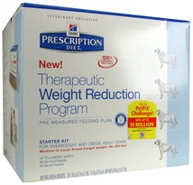 Hill's Prescription Diet Therapeutic Weight Reduction Program Starter Kit Medium to Large Breed