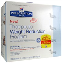 Hill's Prescription Diet Therapeutic Weight Reduction Program Starter Kit Small Breed